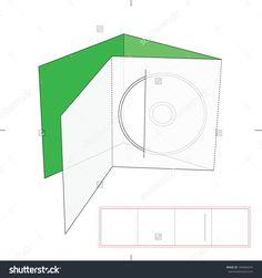 Dvd Media Envelope With Blueprint Layout Stock Vector Illustration 189684374 : Shutterstock
