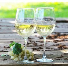 White Wine Glasses #wedding #gifts #daisydays