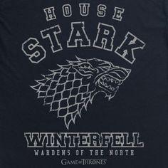 Official Game of Thrones - Stark Collegiate Organic T Shirt