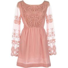 Lace embroidered dress!