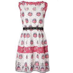 PHILOSOPHY DI ALBERTA FERRETTI White/Rose-Multi Lace Detailed Cotton... ($490) ❤ liked on Polyvore