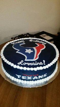 Houston Texans cake Hubby Birthday, Football Birthday, Birthday Fun, Houston Texans Party, Football Themed Cakes, Themed Birthday Cakes, Theme Cakes, Texans Football, Sport Cakes