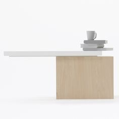 """This collection of furniture by Japanese designers Nendo is stable only when objects are placed on it."""
