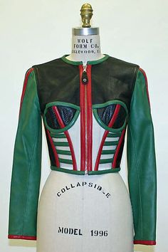 Jacket Jean Paul Gaultier (French, born Date: spring/summer 1991 Culture: French Medium: leather Couture Fashion, Diy Fashion, Vintage Fashion, Fashion Outfits, Womens Fashion, Fashion Design, Gothic Fashion, Jean Paul Gaultier, Vogue