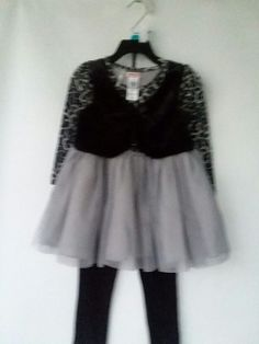 NANETTE LEPORE Girls Holiday 3 Piece White Black Lace Dress 6 or 12 month NWT