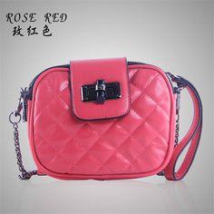 Hot-Selling Fashion Cowhide Beautiful  Bag One Shoulder Messenger Bag Handbag Plaid Solid Color Women's Genuine Leather Handbag