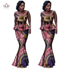 2017 traditional african clothing Vestido 6XL Wax traditional african clothing 2 pieces for Women o-neck Skirt Set BRW WY1009