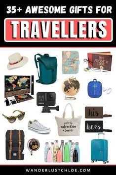 Looking for unique travel gifts? Do your friends and family love to travel? This list features the best birthday and Christmas gifts for travel lovers, with plenty of unique travel gifts, perfect for your favourite jetsetters! Travel Items, Travel Gadgets, Travel Products, Travel Hacks, Best Travel Gifts, Best Gifts, Packing List For Travel, Packing Tips, Best Travel Backpack