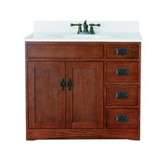 "Sunny Wood FR3621D 36"" Wood vanity Cabinet - Franciscan Collection $336.58"