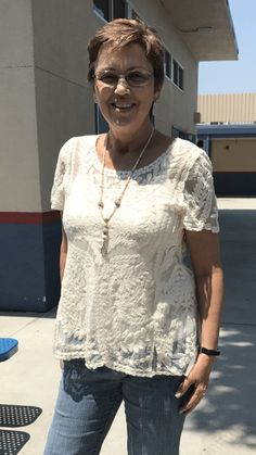 Lace top Transformation on Mary Peterson's Thrifty Chic