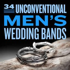 34 Unconventional Wedding Band Options For Men silver earrings, band, dream wedding, romantic weddings, tree branches, wedding rings, sterling silver rings, unique weddings, engagement rings