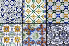 Painting Azulejos in Lisbon, Portuguese tiles, Portugal