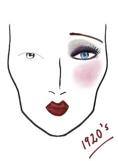 1920's makeup. Good info and pics. I'm make up head for Thoroughly Modern Millie so this is perfect!!
