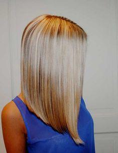Long Bob Straight Blonde Hair