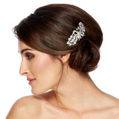 Jon Richard Vintage swirl ribbon and crystal flower hair comb- at Debenhams.com. £35