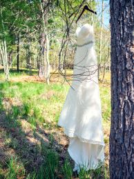 Outdoor wedding dress shot  |  Lauryn Reifinger Photography