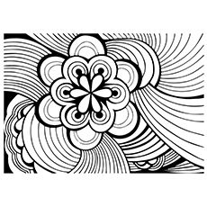The a bstrac coloring page new