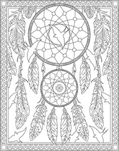 Native American Adult Coloring Books Elegant Wel E to Dover Publications Creative Haven Native Dream Catcher Coloring Pages, Love Coloring Pages, Adult Coloring Pages, Coloring Sheets, Coloring Book Pages, Native American Design, Native American Heritage Month, Dream Catcher Art, Dream Catcher Native American