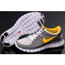 best deals on 24c42 a33fe Femme Running (gris jaune blanc) Chaussures Nike Free Run + NebeP