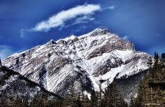 Believe it or not, I took this shot from the balcony of my son's home in Banff. It was a beautiful clear day.