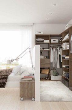 Walk Through Closet behind Bed Hack for Modern Home Interior, Home, Home Bedroom, Wardrobe Behind Bed, Closet Bedroom, Small Bedroom Decor, Bedroom Design, Closet Behind Bed, Bedroom