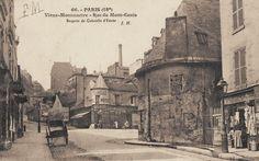 Montmartre - la rue du Mont-Cenis et l'Ancienne Bergerie de Gabrielle d'Estrée, vers 1900.