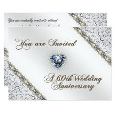 Shop Wedding Anniversary RSVP Invitation Card created by Digitalbcon. Personalize it with photos & text or purchase as is! Wedding Aniversary, 60 Wedding Anniversary, Wedding Anniversary Invitations, Diamond Anniversary, Anniversary Cards, Zazzle Invitations, Invitation Cards, Color Themes, Card Sizes
