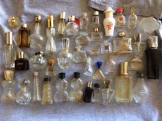 Large-Vintage-Lot-of-40-Empty-Perfume-Bottles