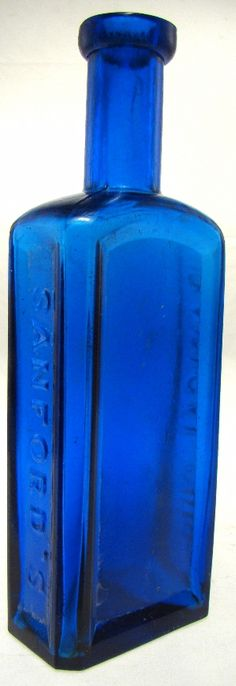 """SANFORD'S RADICAL CURE. 7 ½"""" with applied top. Here is another nice example of this popular bottle -"""
