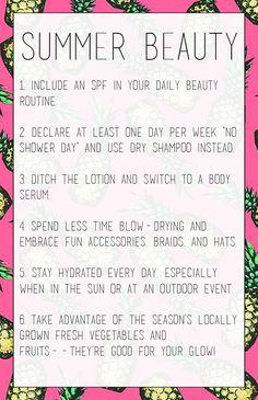 Have a Beautiful Summer! // body serum recommendations:  One Love Organics Vitamin C Body Oil ($58) and the new Gardenia Body Serum ($39).