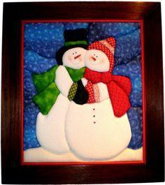 Cuadro Patchwork $140.000 Sewn Christmas Ornaments, Diy Felt Christmas Tree, Christmas Blocks, Christmas Applique, Felt Christmas Decorations, Christmas Sewing, Christmas Scenes, Christmas Snowman, Christmas Crafts