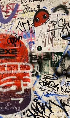 Graffiti Wall Art, Graffiti Tagging, Collage Background, Photo Wall Collage, Graffiti Lettering Fonts, Grafiti, Funky Art, Doodles, Aesthetic Art