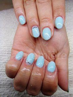 #nails #paznokcie #mietowe paznokcie #mint nails #swarovski #manicure hybrydowy #paznokcie zelowe #mietowa hybryda