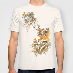 fox in foliage T-shirt by Teagan White - $18.00