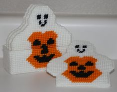 1063 Ghost with Pumpkin Coasters by CraftsbyRandC on Etsy, $10.95