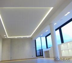 D caissement d croch design faux plafond ilot central - Faux plafond suspendu lumineux ...