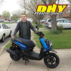 Congratulations to Gerard from Westhampton on the purchase of his shiny new 2013 Yamaha Zuma 125! Thank you for making your purchase at DHY.