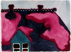 Georgia O'Keeffe:  Roof With Snow, (1917) Watercolour