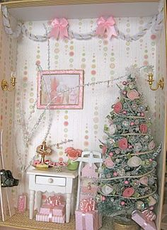 pink Christmas in miniature