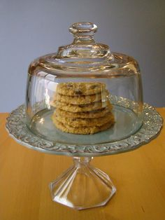 thrift store plate + thrift store candlestick holder + epoxy = cake tray.  genius.  from 4 Men 1 Lady