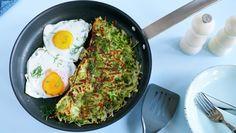 Potet og squashrøsti med egg