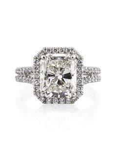 Mark Broumand 5.15ct Radiant Cut Diamond Engagement Ring Engagement Ring - The Knot