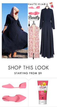"""""""Haute Hijab 1/4"""" by sabinakopic ❤ liked on Polyvore featuring Melissa and MAC Cosmetics"""
