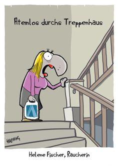 Cartoonkarten : 1698/Cartoon-Postkarte: Atemlos