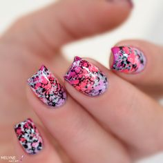 Nail art pierre précieuse rose + Vidéo tuto