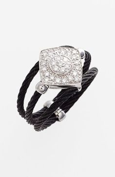 ALOR 'Noir' Pave Diamond Ring