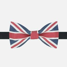 64625276b406 UK Flag Bow Tie: This tie is an elegant and patriotic representation of the  British