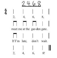 2, 4, 6, 8: A fun chant for your first and second graders! | Mrs. Miracle's Music Room | Music Education Blog