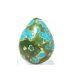 Green and Bright Blue Turquoise Pear shaped high by FenderMinerals