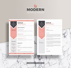 Free Modern Resume CV Template For Designers And